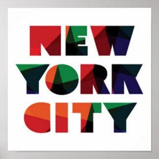 New York City | Bold Typography Poster