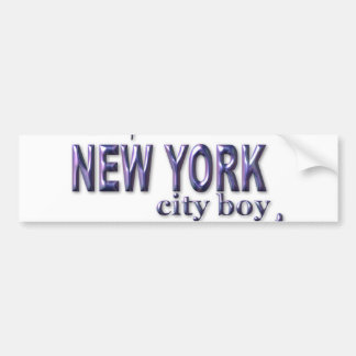 New York City Boy Bumper Sticker