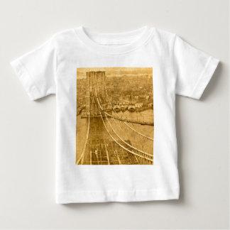 New York City Brooklyn Bridge Construction 1870s T Shirt