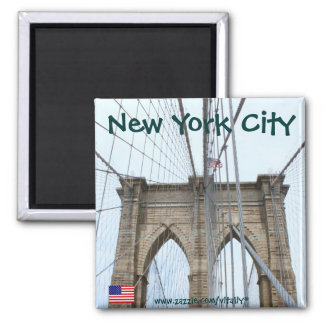 New York City Brooklyn bridge magnet design