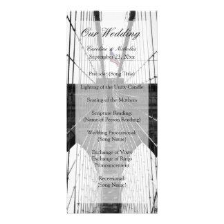 New York City Brooklyn Bridge Wedding Customised Rack Card