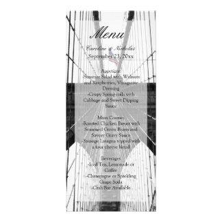 New York City Brooklyn Bridge Wedding Rack Card Design