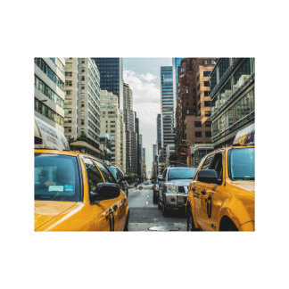 New York City Cabs Gallery Wrap Canvas