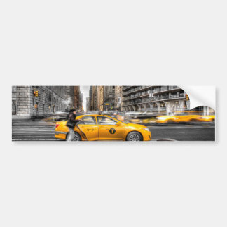 New York City cabs, Central Park Bumper Sticker