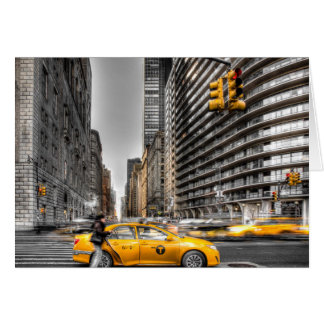 New York City cabs, Central Park Greeting Card