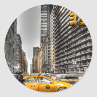 New York City cabs, Central Park Classic Round Sticker