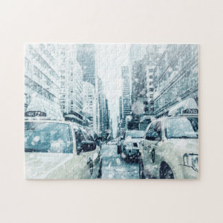 New York City Cabs Jigsaw Puzzle