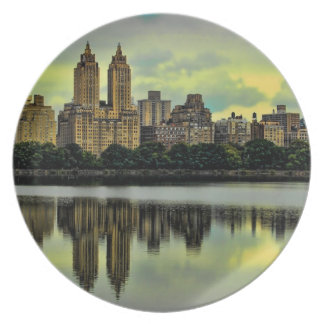 New York City Central Park Skyline Plate
