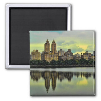 New York City Central Park Skyline Square Magnet