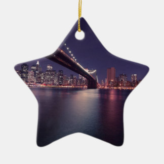 new-york-city ceramic star decoration