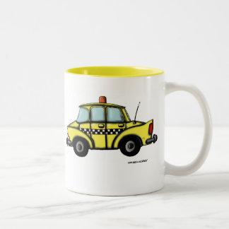 New York City Checker Cab Two-Tone Coffee Mug