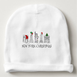 New York City Christmas NYC Holiday Landmarks Baby Beanie