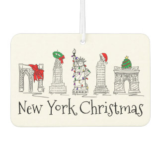 New York City Christmas NYC Holiday Landmarks Car Air Freshener