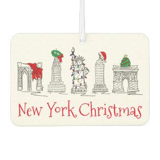 New York City Christmas NYC Holiday Landmarks Gift Car Air Freshener