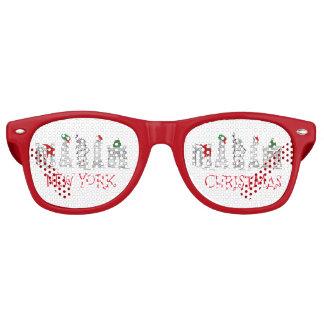 New York City Christmas NYC Holiday Landmarks Xmas Retro Sunglasses