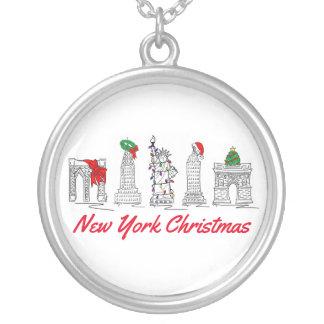 New York City Christmas NYC Holiday Xmas Necklace