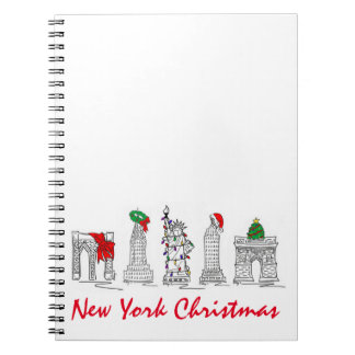 New York City Christmas NYC Landmark Gift Notebook