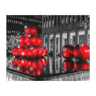New York City Christmas Photo Canvas Print
