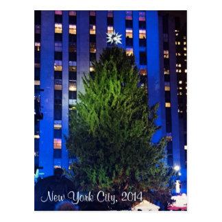 New York City Christmas Tree Postcard