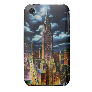 New York City Chrysler Building at Night iPhone 3 Case