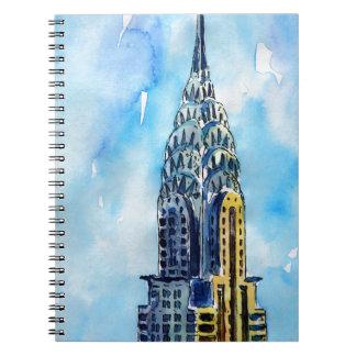New York City Chrysler Building Notebooks