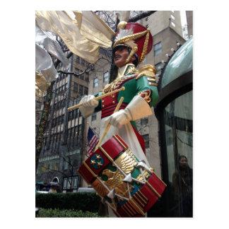 New York City Drummer Boy Christmas Postcard