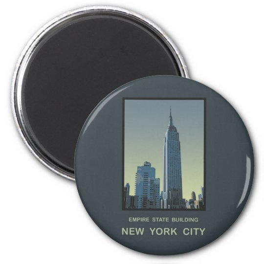 New York City Empire State Building 6 Cm Round Magnet