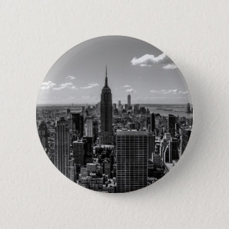 New York City Empire State Building Skyline 6 Cm Round Badge