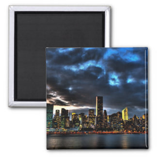 New York City Evening Skyline Magnet