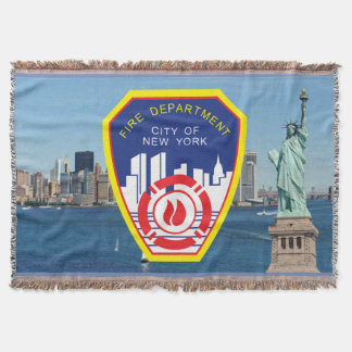 New York City Fire Department Throw Blanket