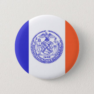 New York City Flag 6 Cm Round Badge