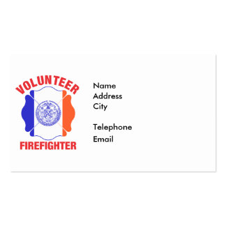 New York City Flag Volunteer Firefighter Cross Pack Of Standard Business Cards
