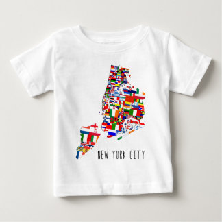 New York City Flags Baby T-Shirt