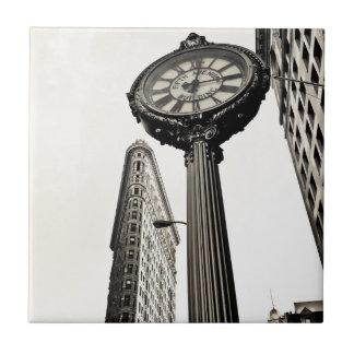 New York City - Flatiron Building and Clock Tile