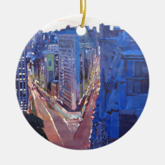 New York City - Flatiron Building At Night Christmas Ornament