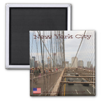 New York City from Brooklyn bridge magnet