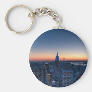 New York City from top of the Rockefeller Centre Basic Round Button Key Ring