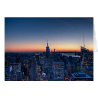 New York City from top of the Rockefeller Centre Card