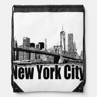 NEW YORK CITY GEAR BY EKLEKTIX DRAWSTRING BAG