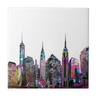 New York City graffiti Tile