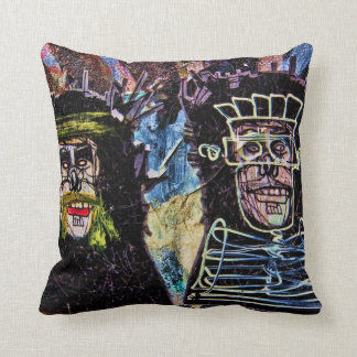 New York City Graffiti Wall Photo Cushion