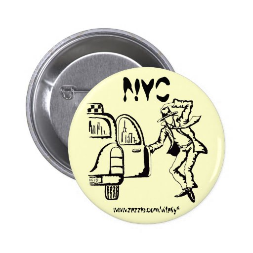 New York City graphic art cool button design