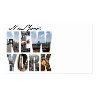 New York City Graphical Tourism Montage Business Card