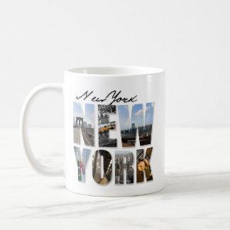 New York City Graphical Tourism Montage Coffee Mug