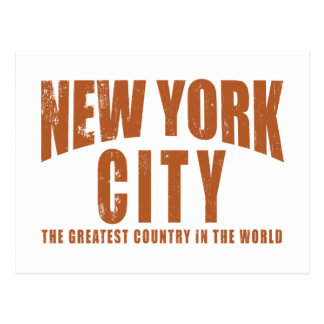 New York City Greatest Country in the World Postcard
