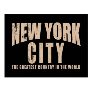 New York City Greatest Country in the World Postcards