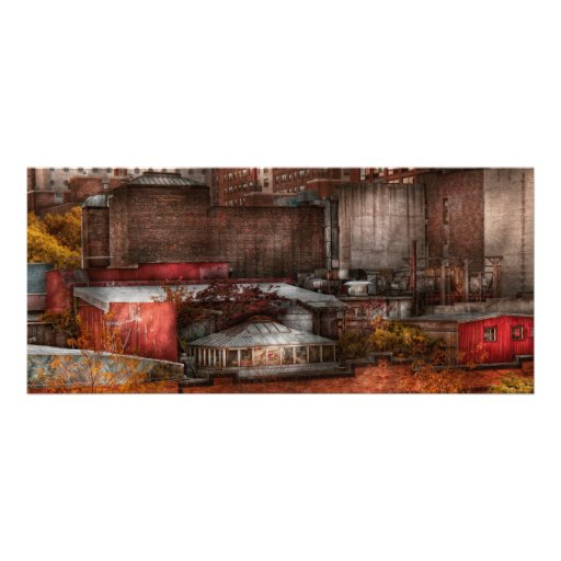 New York - City - Greenwich Village - Abstract cit Customized Rack Card