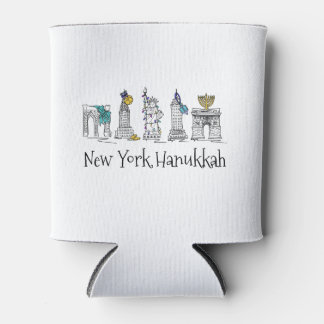 New York City Hanukkah NYC Jewish Holiday Chanukah Can Cooler