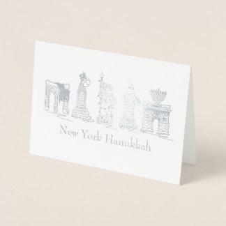 New York City Hanukkah NYC Jewish Holiday Chanukah Foil Card