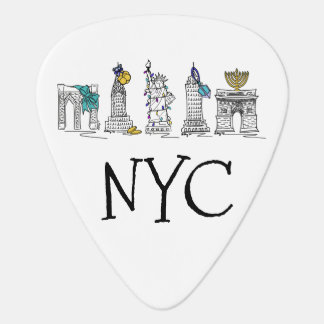 New York City Hanukkah NYC Jewish Holiday Chanukah Plectrum